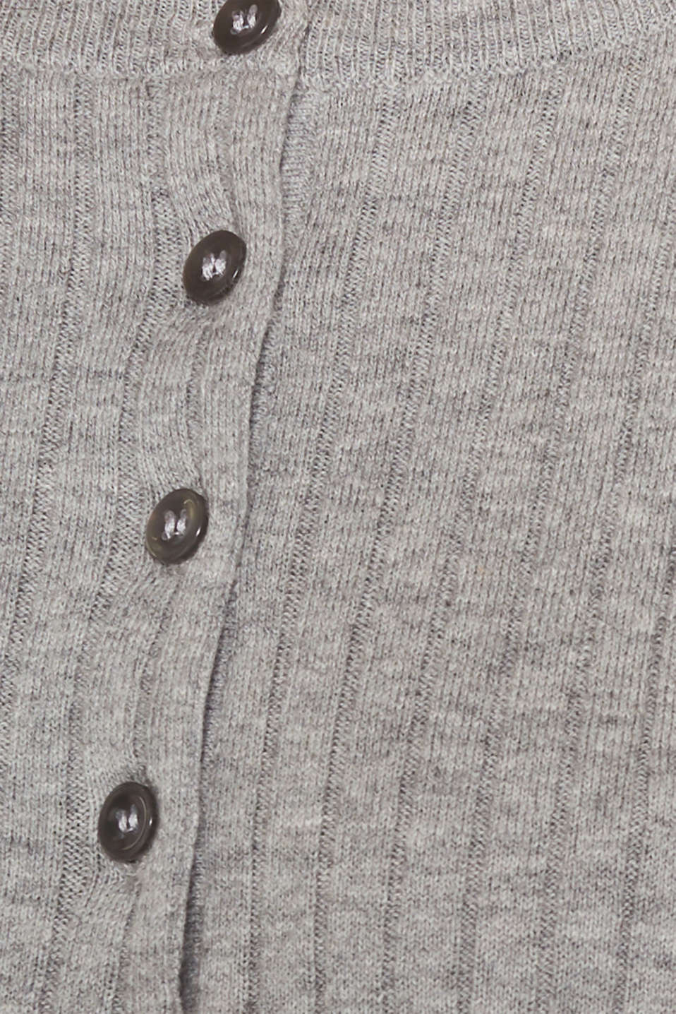 With silk: ribbed jumper with buttons, MEDIUM GREY 5, detail image number 4