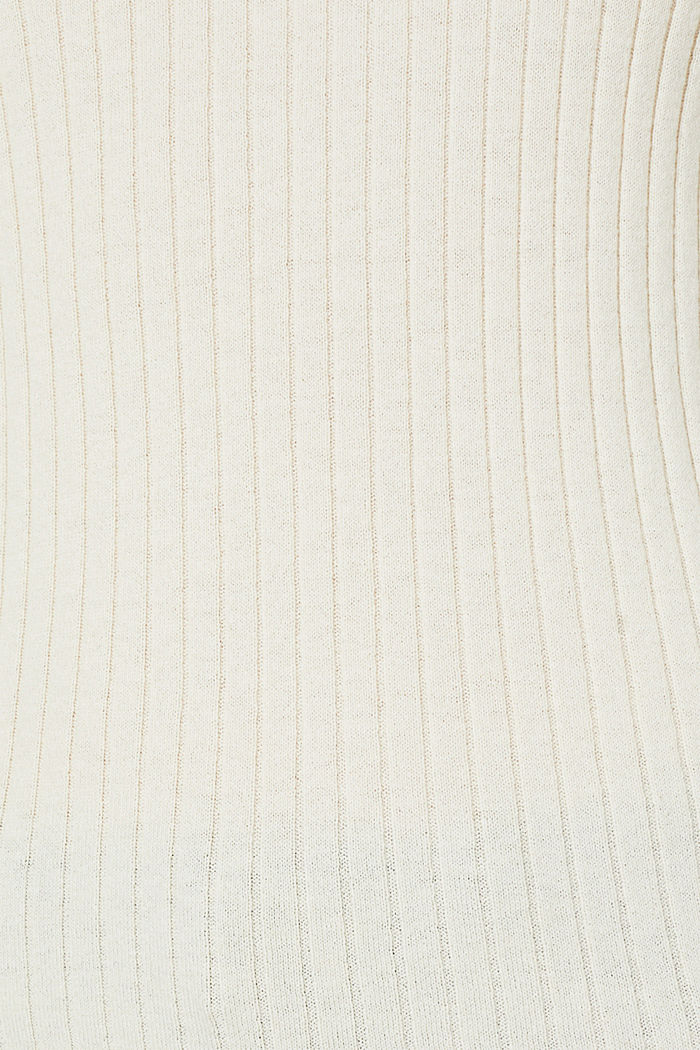 With silk: ribbed jumper with buttons, OFF WHITE, detail image number 2
