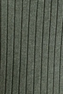 With silk: ribbed jumper with buttons, KHAKI GREEN 5, detail