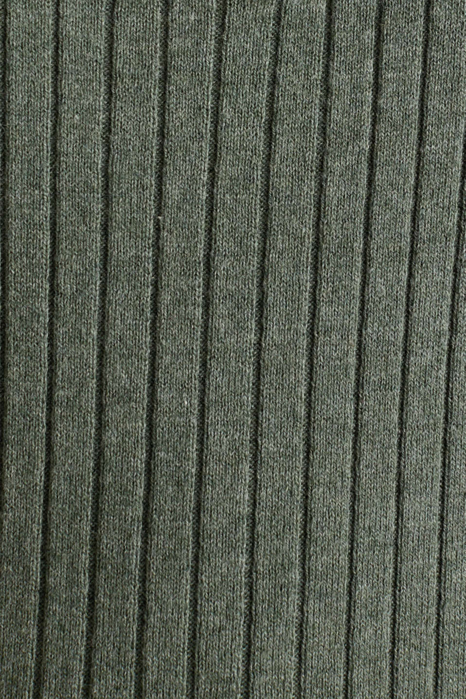 With silk: ribbed jumper with buttons, KHAKI GREEN 5, detail image number 4