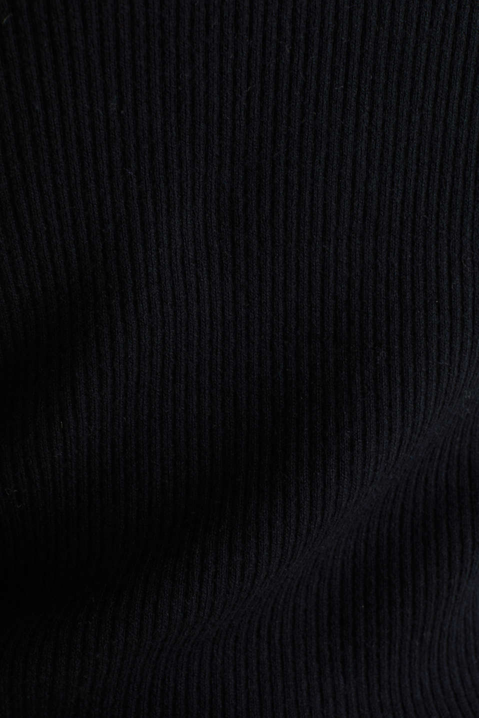 With silk: Ribbed knit cardigan, BLACK, detail image number 4