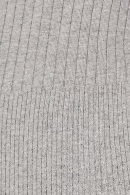 With silk: Ribbed jumper with a stand-up collar, MEDIUM GREY 5, detail