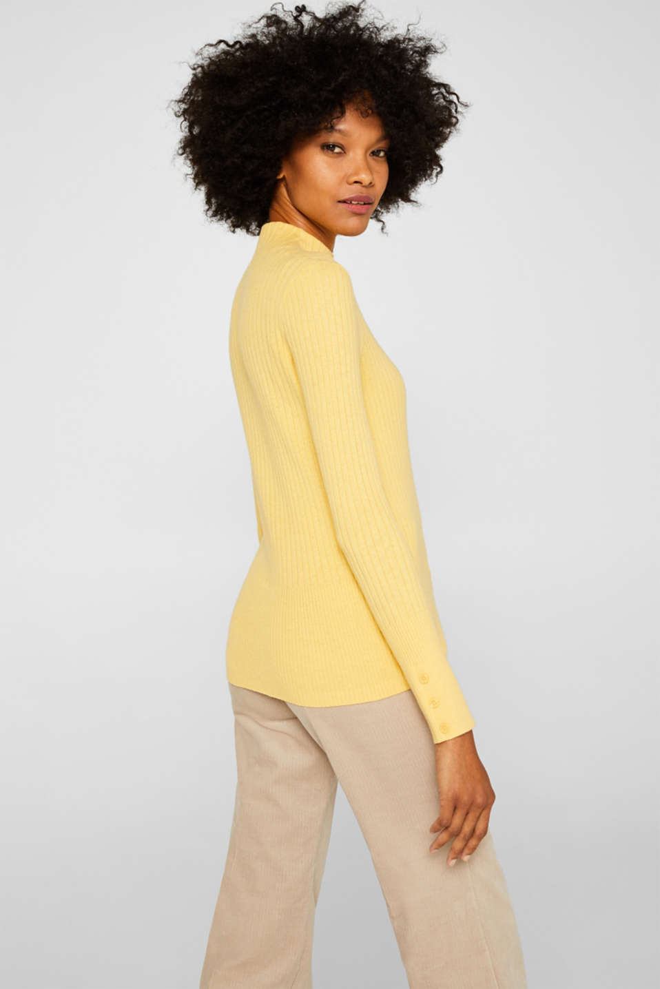 Sweaters, DUSTY YELLOW 5, detail image number 3