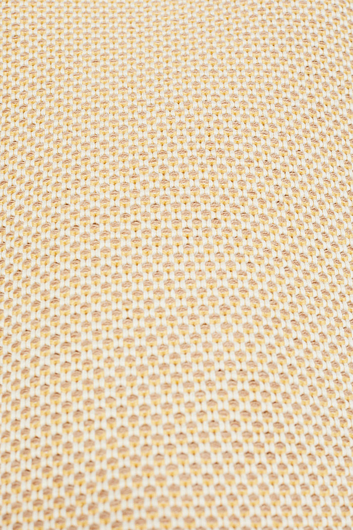 Textured jumper in blended cotton, YELLOW, detail image number 4