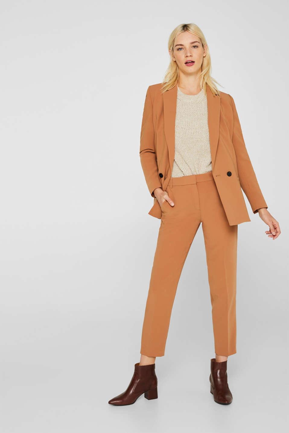 Melange textured jumper, 100% cotton, BEIGE 2, detail image number 1