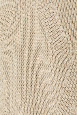 Melange textured jumper, 100% cotton