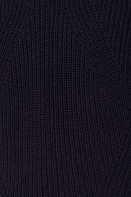 Melange textured jumper, 100% cotton
