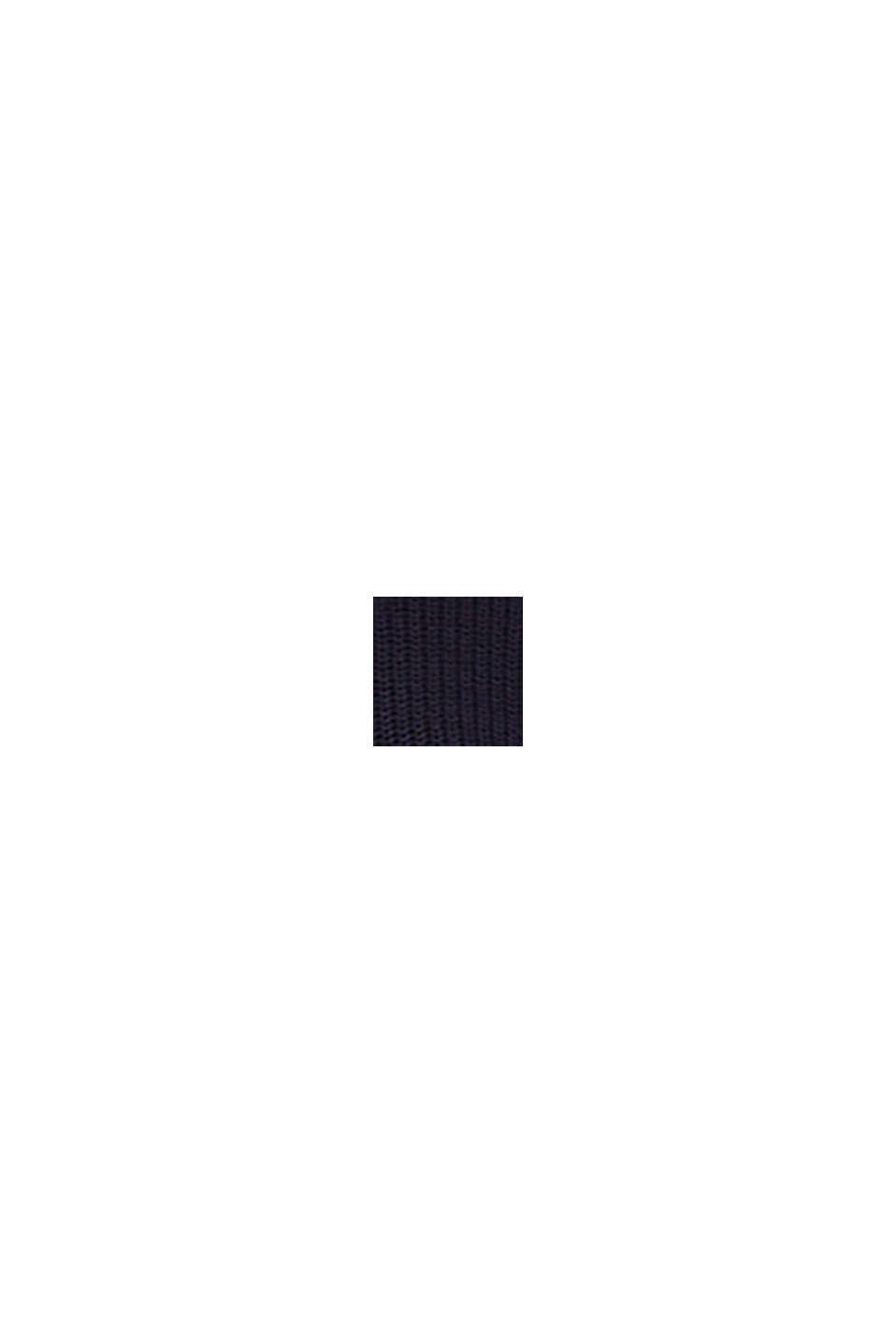 Melierter Struktur-Pullover, 100% Baumwolle, NAVY, swatch