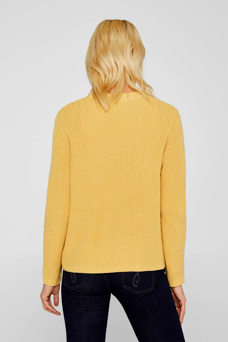 Sweaters, DUSTY YELLOW, detail image number 3