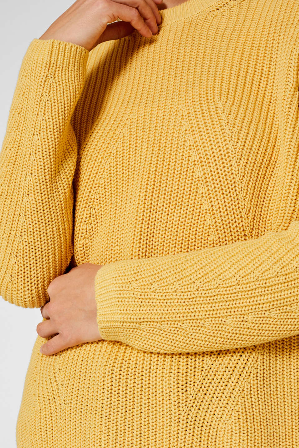 Sweaters, DUSTY YELLOW, detail image number 2