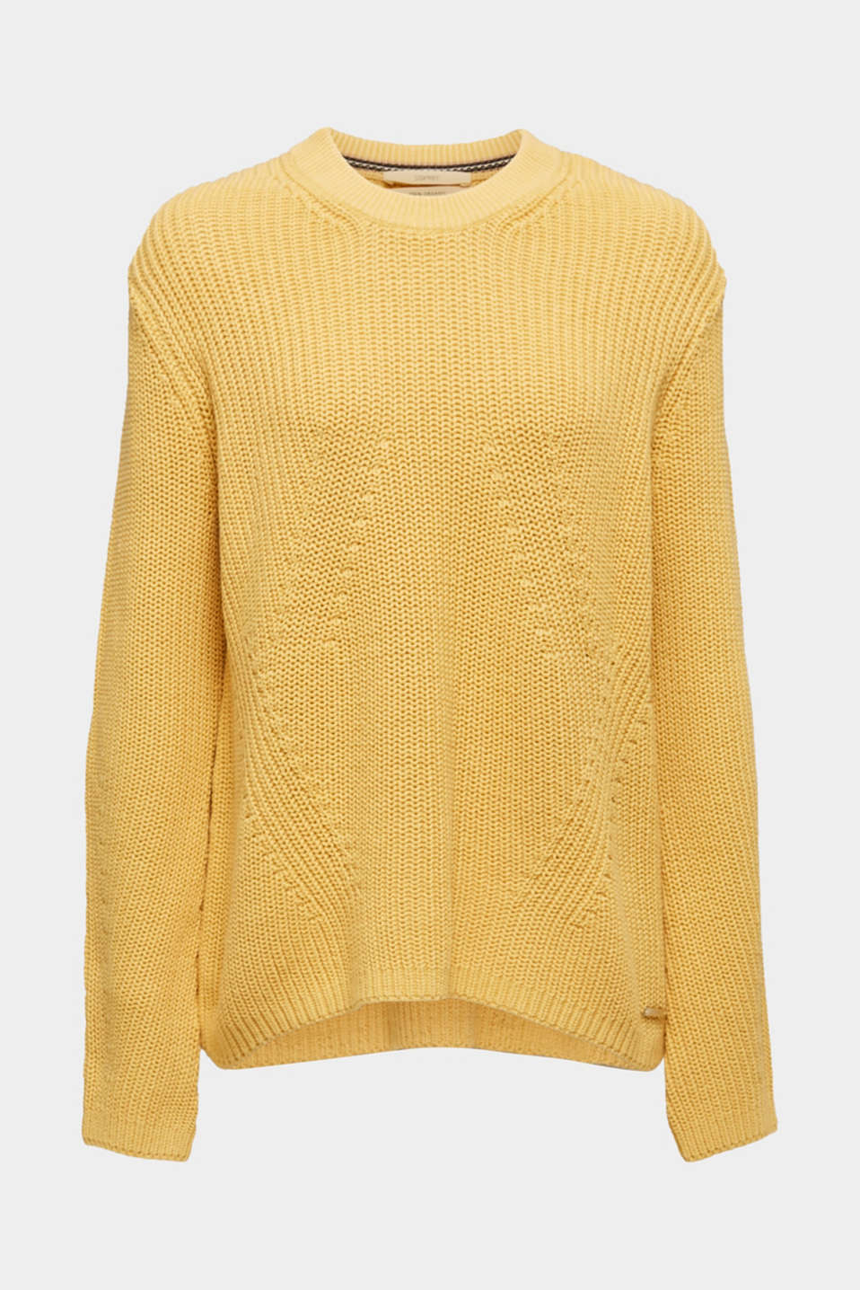 Sweaters, DUSTY YELLOW, detail image number 7