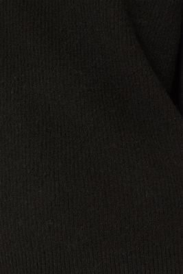 Polo neck jumper with racing stripes and wool, BLACK 2, detail