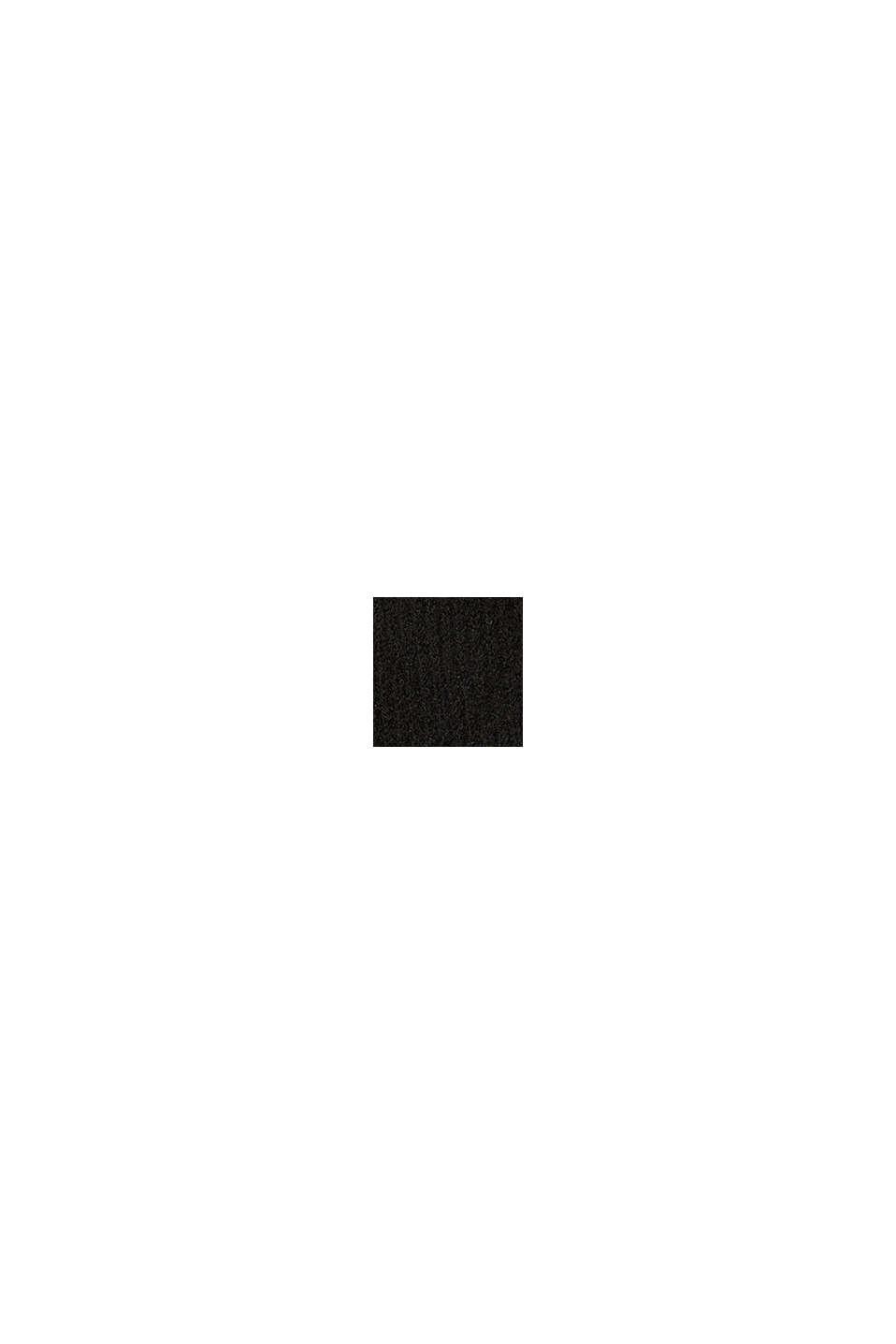 Med uld: rullekravepullover med fartstriber, BLACK, swatch