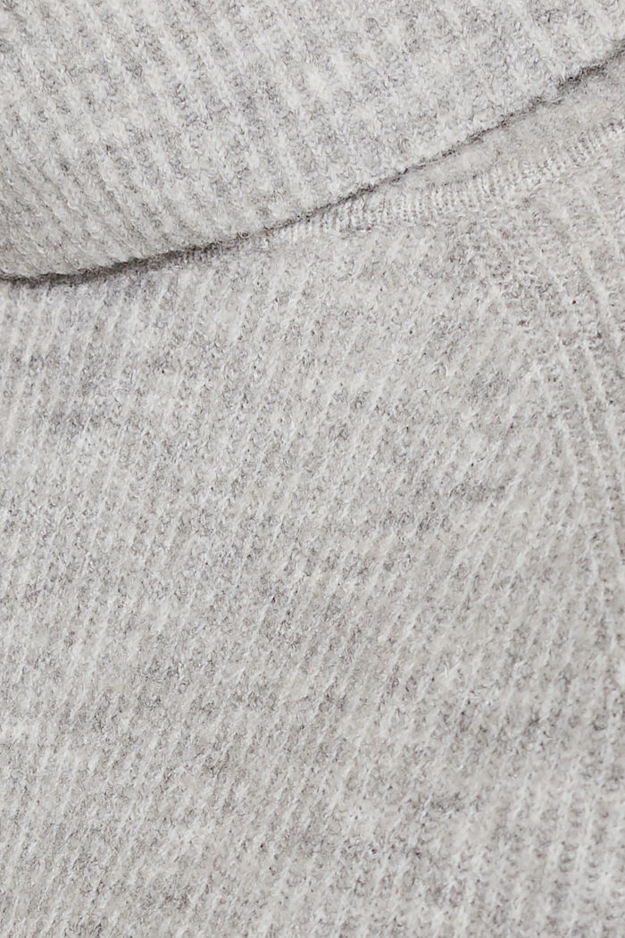Polo neck jumper with racing stripes and wool, LIGHT GREY, detail image number 4