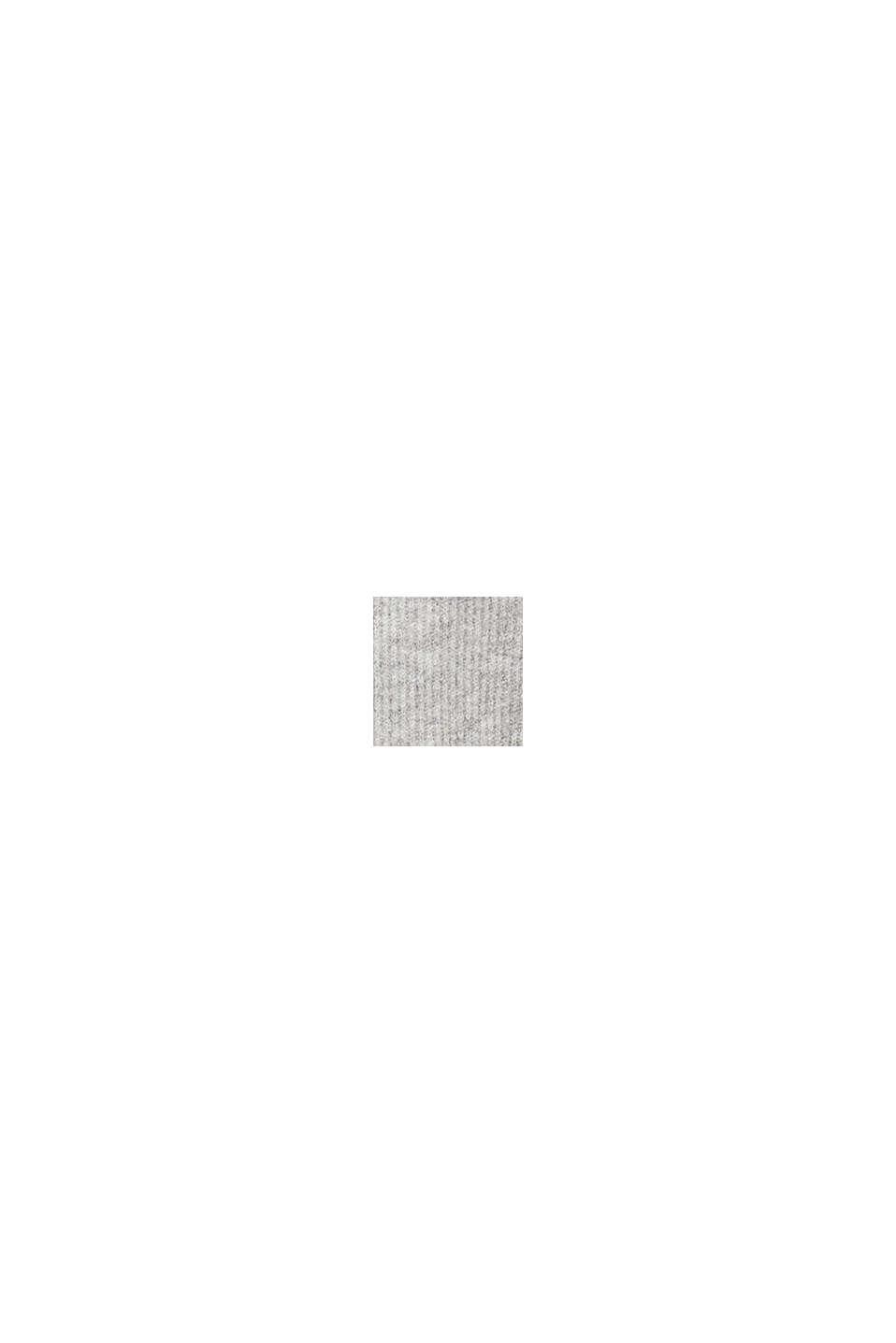 Med uld: rullekravepullover med fartstriber, LIGHT GREY, swatch
