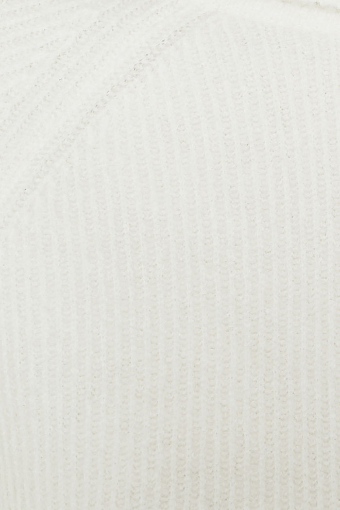 Polo neck jumper with racing stripes and wool, OFF WHITE, detail image number 4