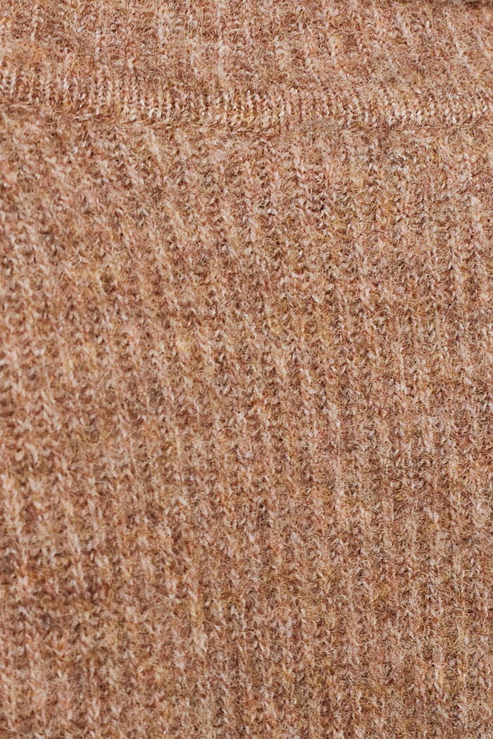 Polo neck jumper with racing stripes and wool, CAMEL, detail image number 4