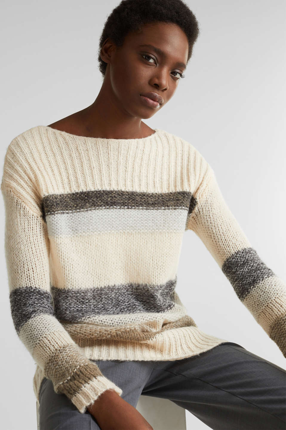 Sweaters, BEIGE 2, detail image number 5
