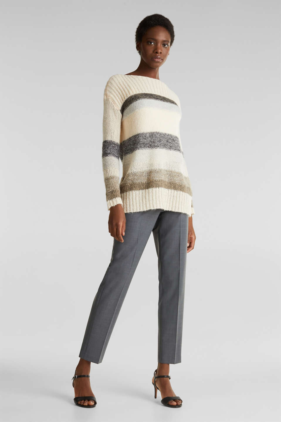 Sweaters, BEIGE 2, detail image number 1