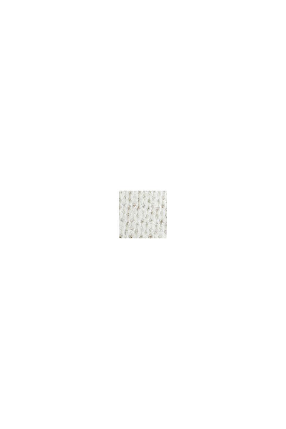 Mit Wolle/Alpaka: Long-Pullover mit Streifen, DUSTY YELLOW, swatch