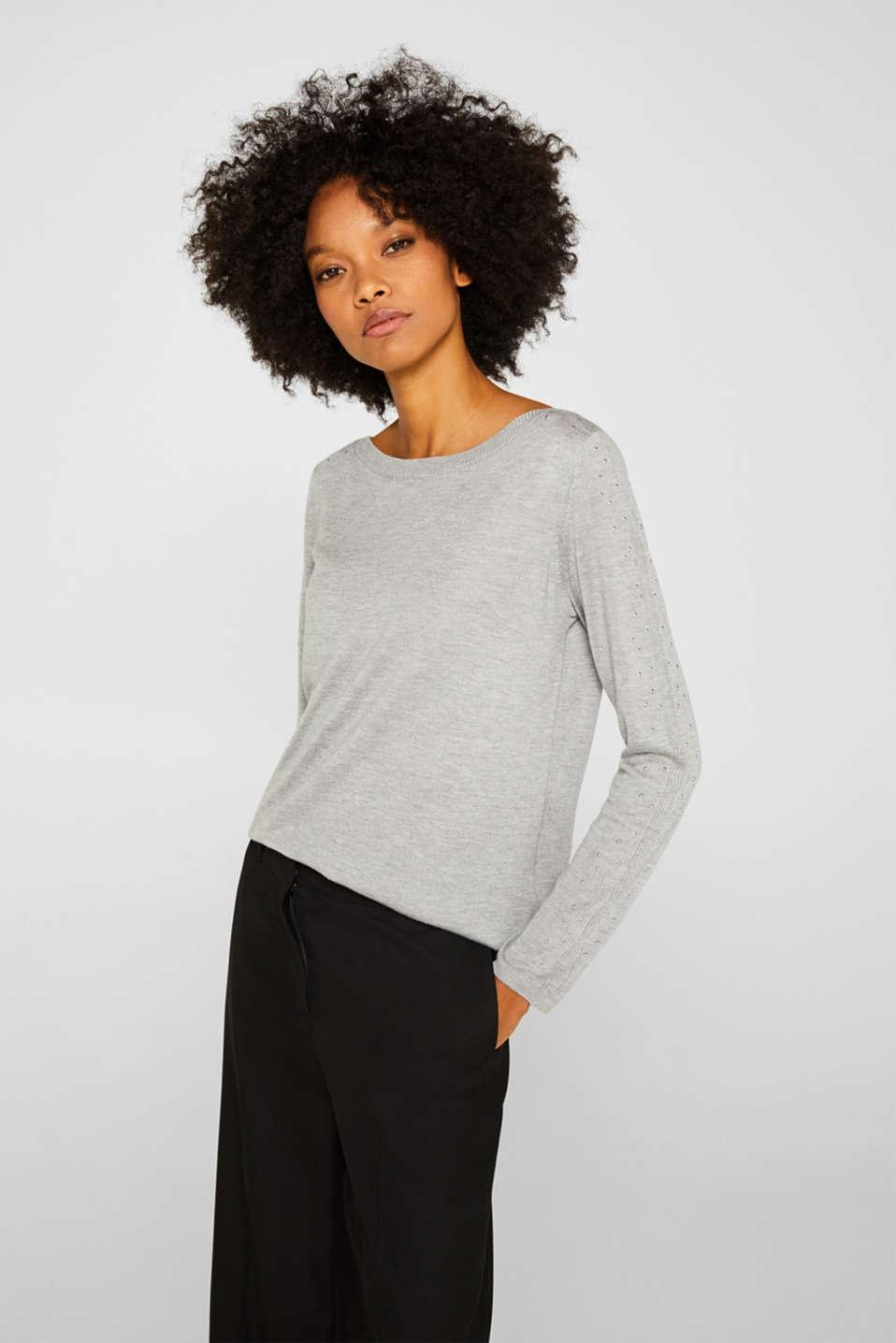 Sweaters, MEDIUM GREY 5, detail image number 0