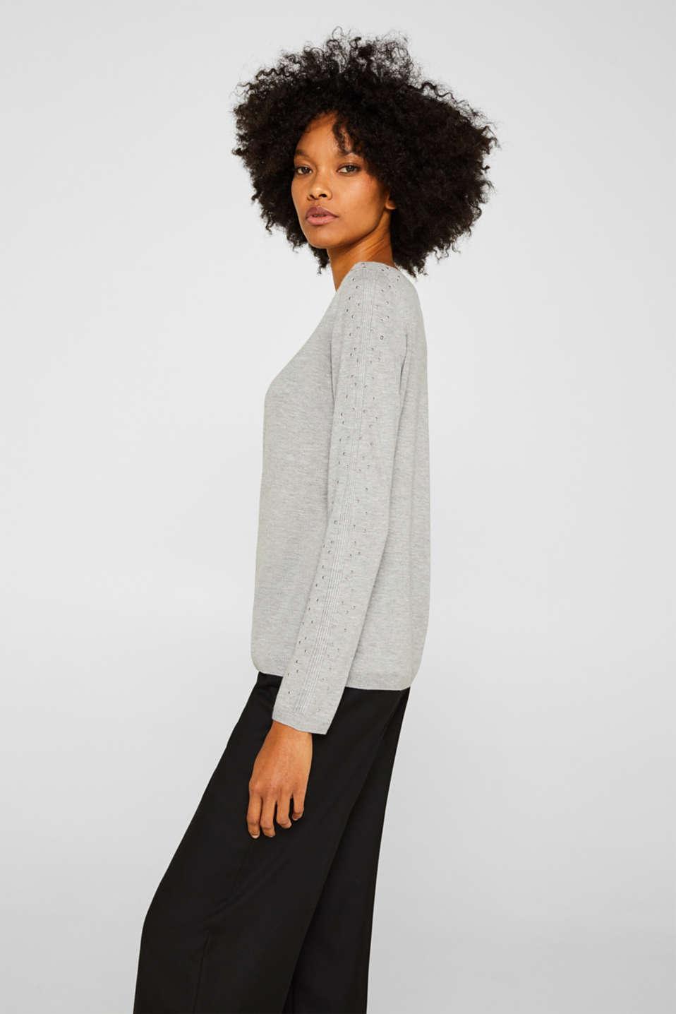 Sweaters, MEDIUM GREY 5, detail image number 5