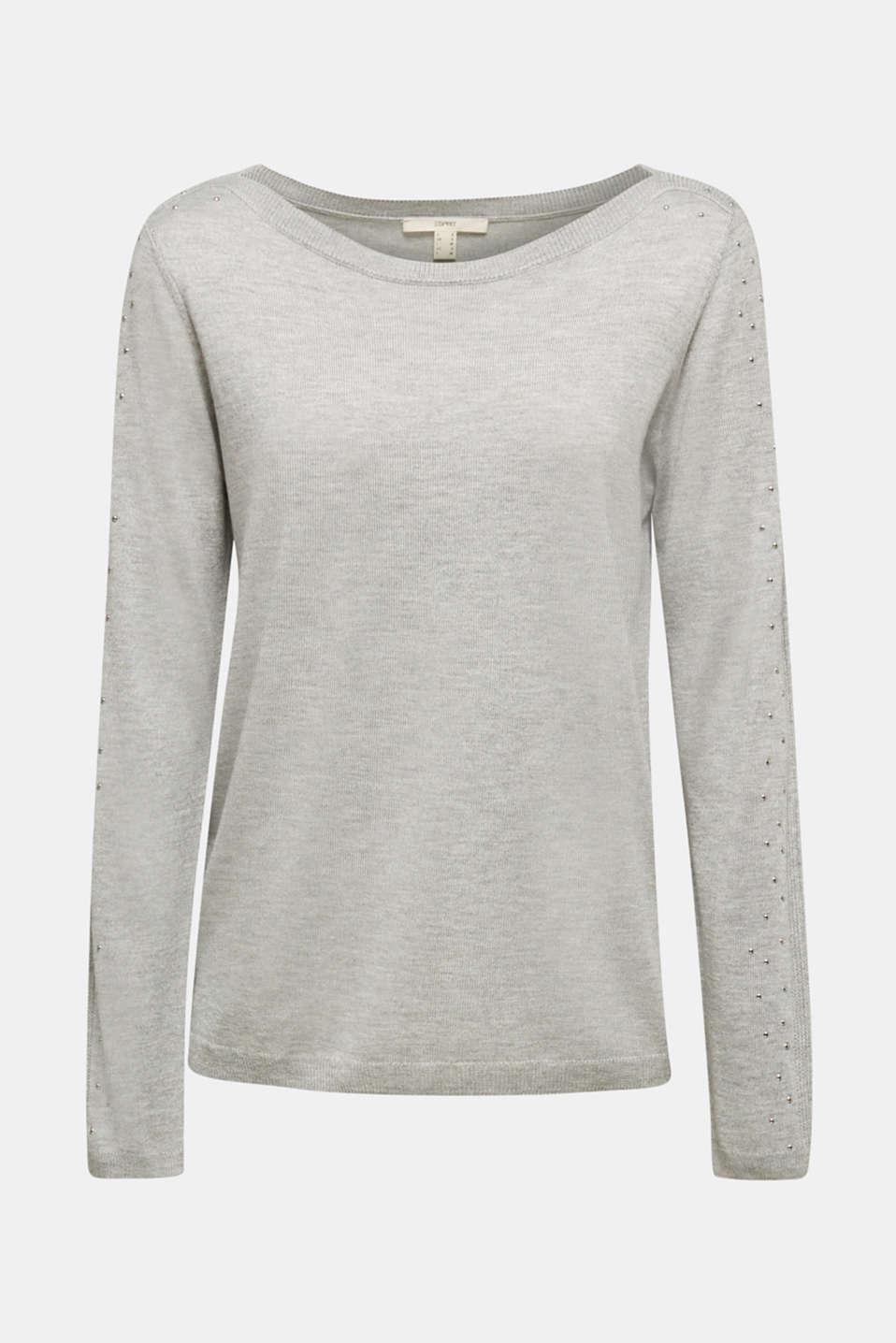Sweaters, MEDIUM GREY 5, detail image number 6