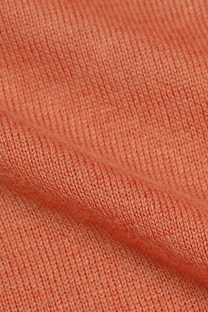 Striped wool blend jumper, BURNT ORANGE, detail image number 4