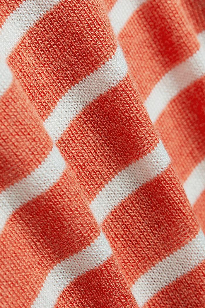 Gestreifter Pullover mit Woll-Blend, NEW BURNT ORANGE, detail image number 4