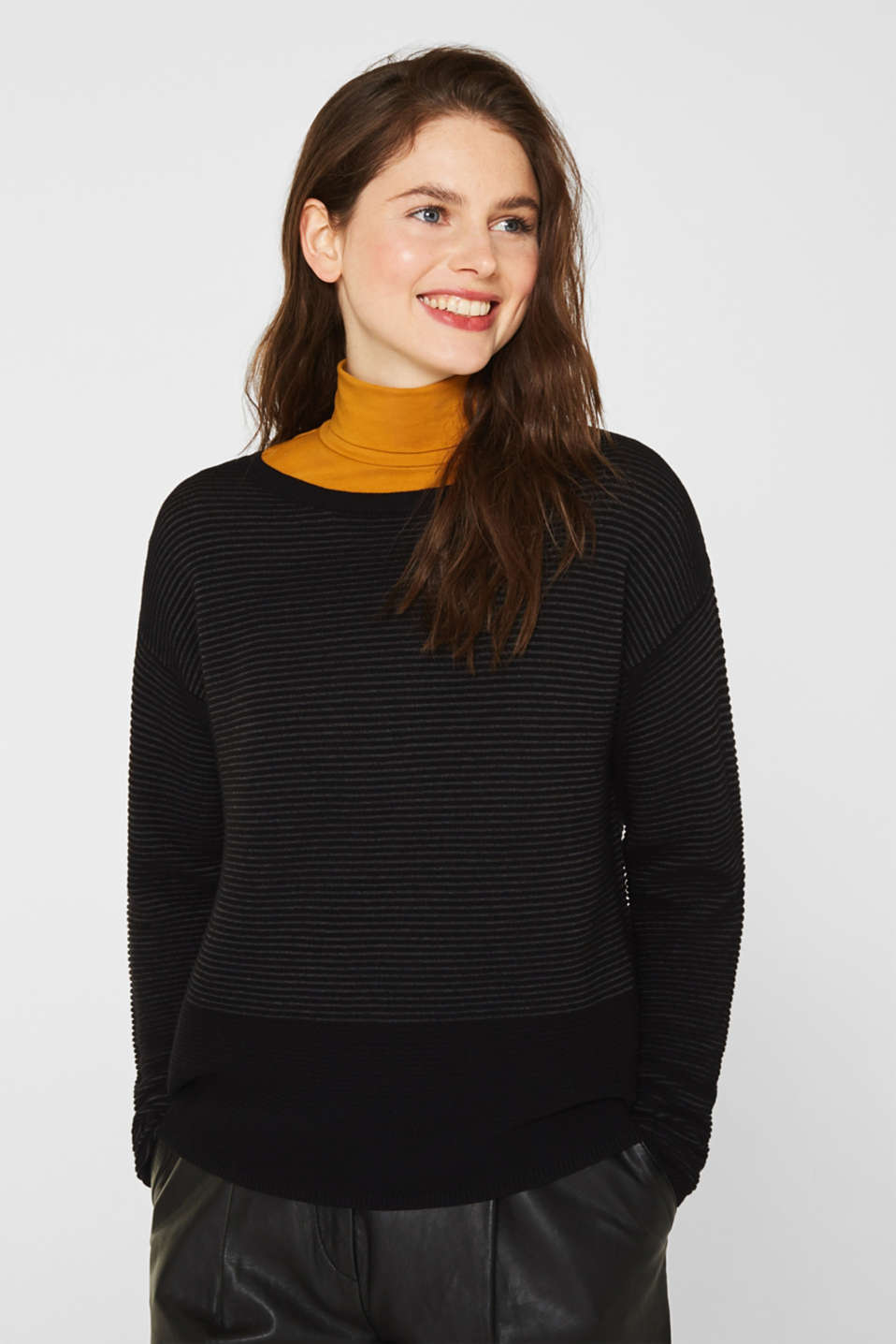 Ribbed-Jumper made of 100% cotton