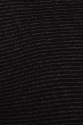 Ribbed-Jumper made of 100% cotton, BLACK 2, detail