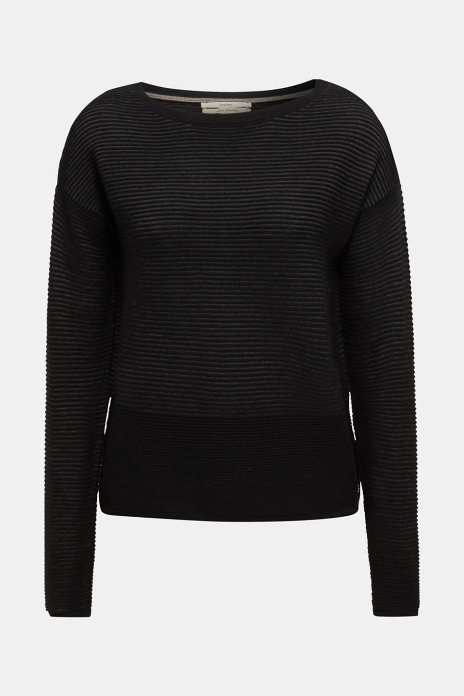 Ribbed-Jumper made of 100% cotton, BLACK 2, detail image number 6