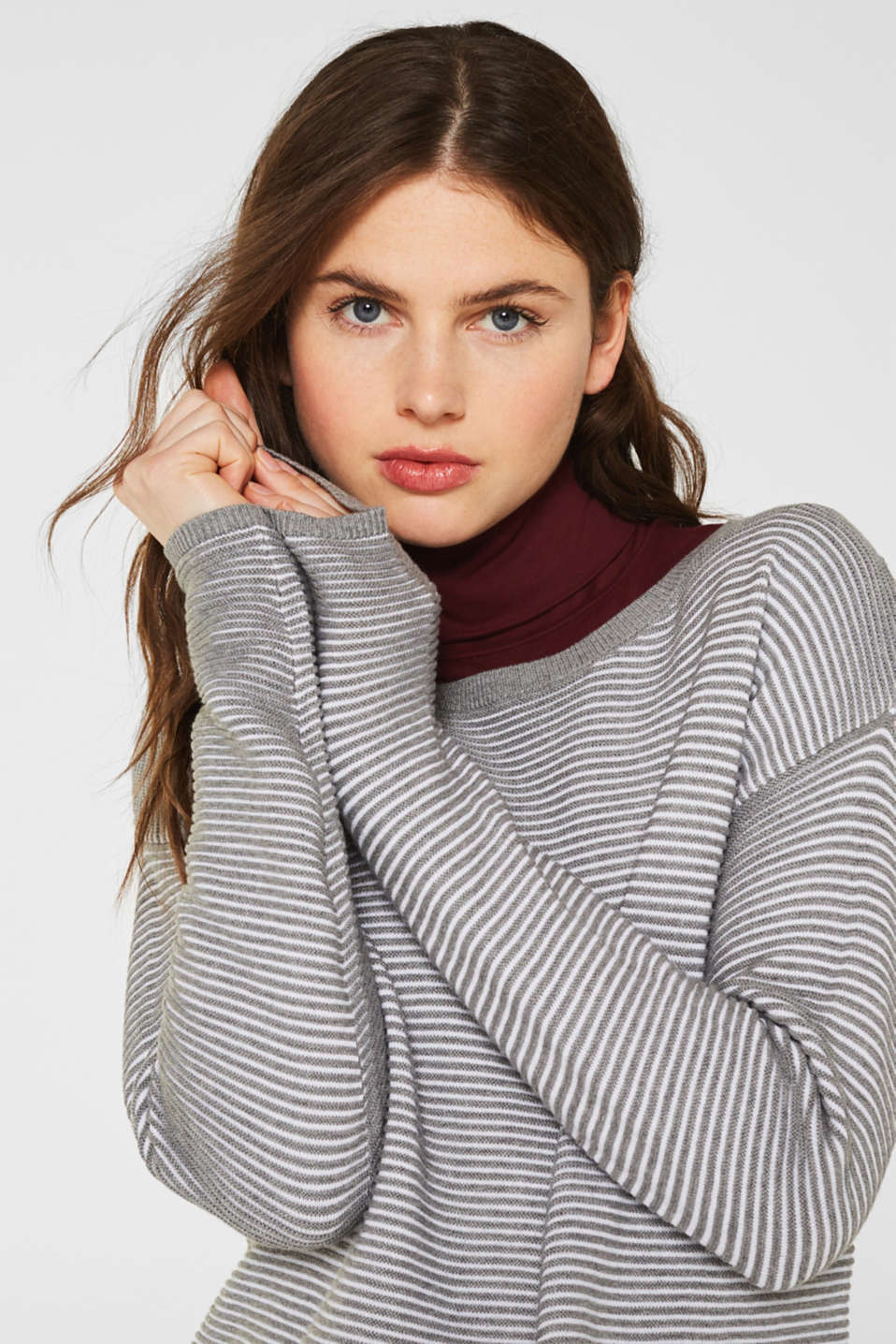 Sweaters, MEDIUM GREY 2, detail image number 7