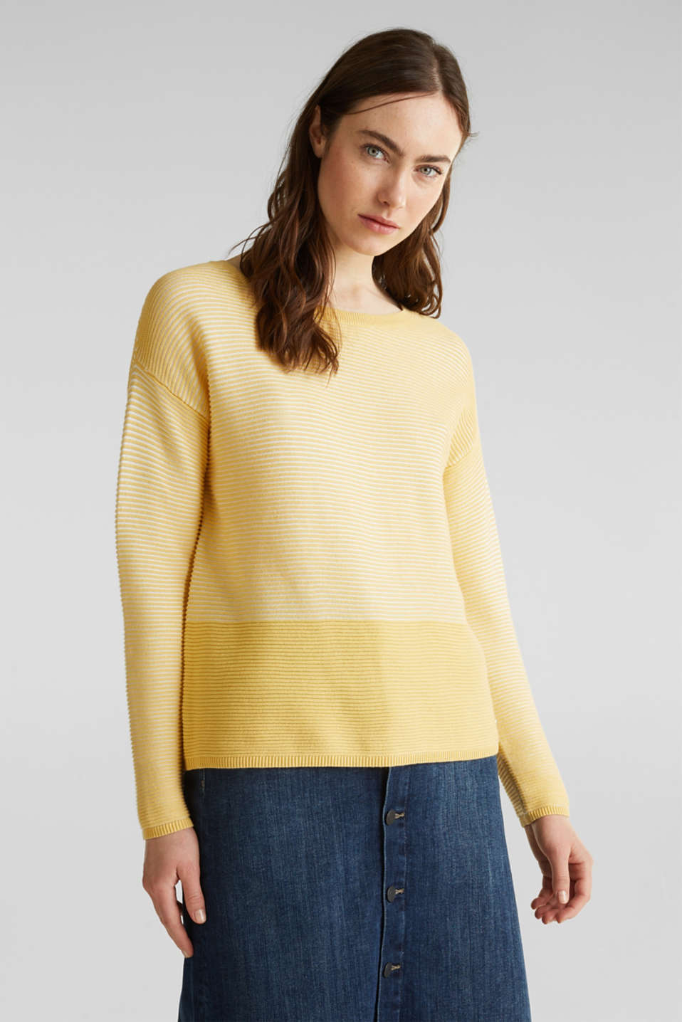 Sweaters, DUSTY YELLOW 2, detail image number 0