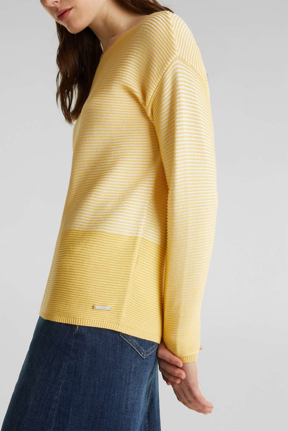 Sweaters, DUSTY YELLOW 2, detail image number 2