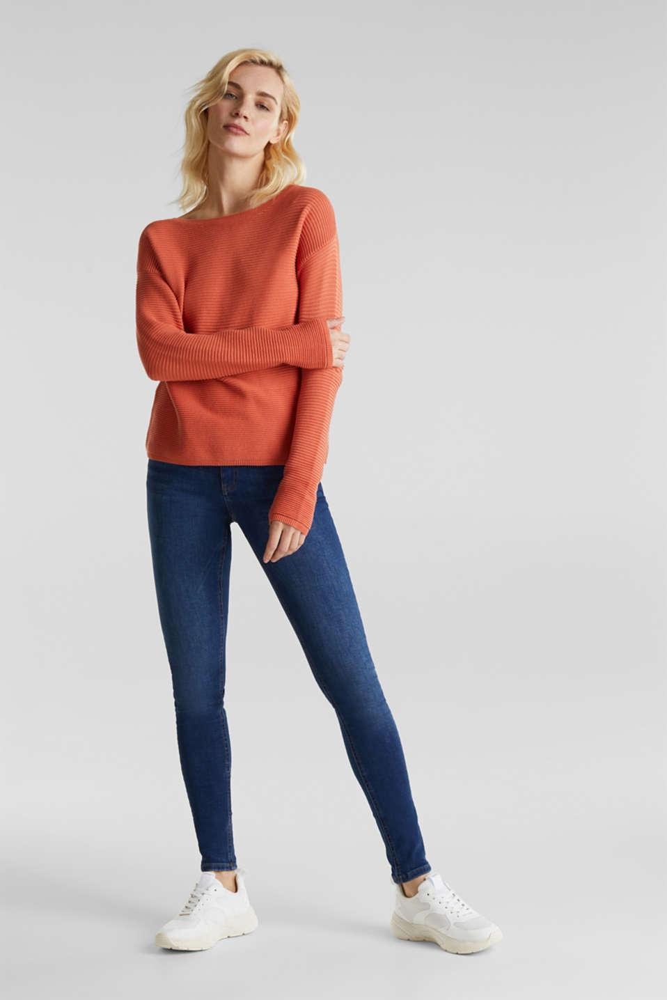 Sweaters, BURNT ORANGE 2, detail image number 1