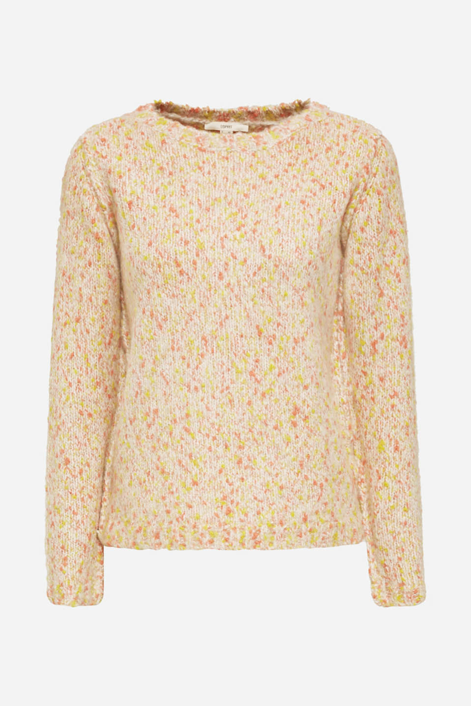 Wool blend: jumper with a dimpled texture, BEIGE, detail image number 7
