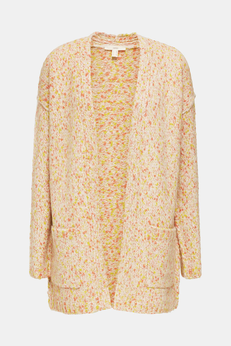Wool blend: Cardigan with a dimpled texture, BEIGE, detail image number 5