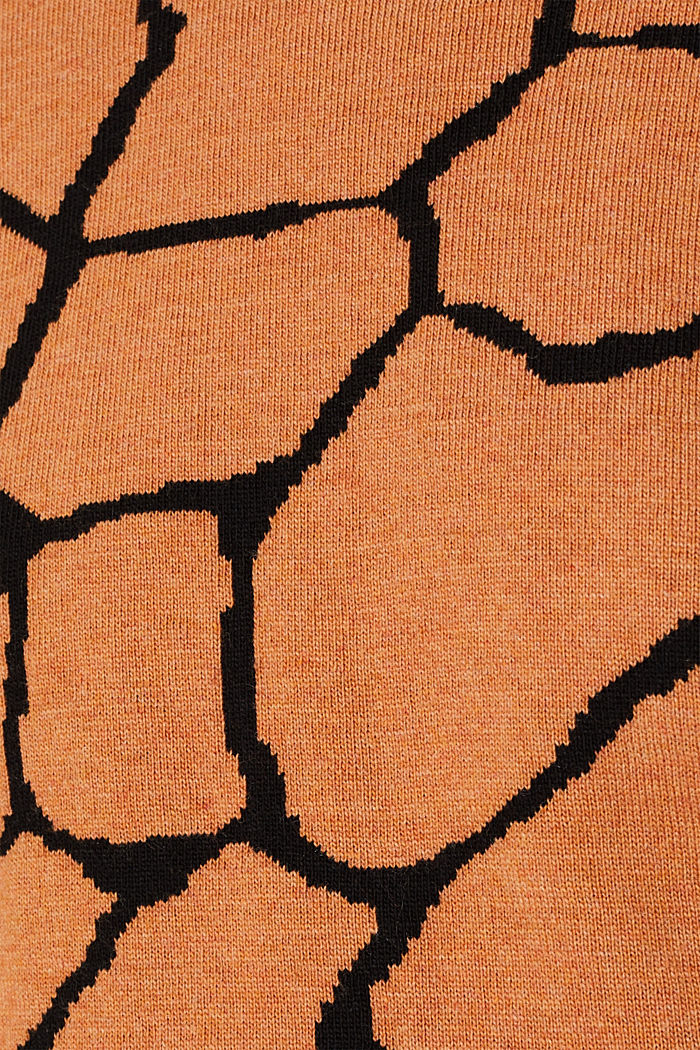 Double-faced jumper with a jacquard pattern, BURNT ORANGE, detail image number 4