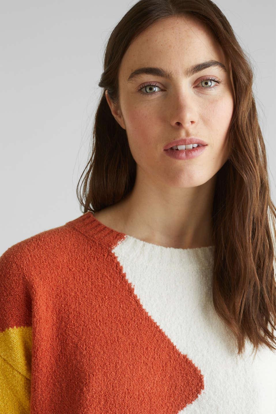 Sweaters, BURNT ORANGE, detail image number 6