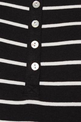 Long sleeve top made of full needle rib