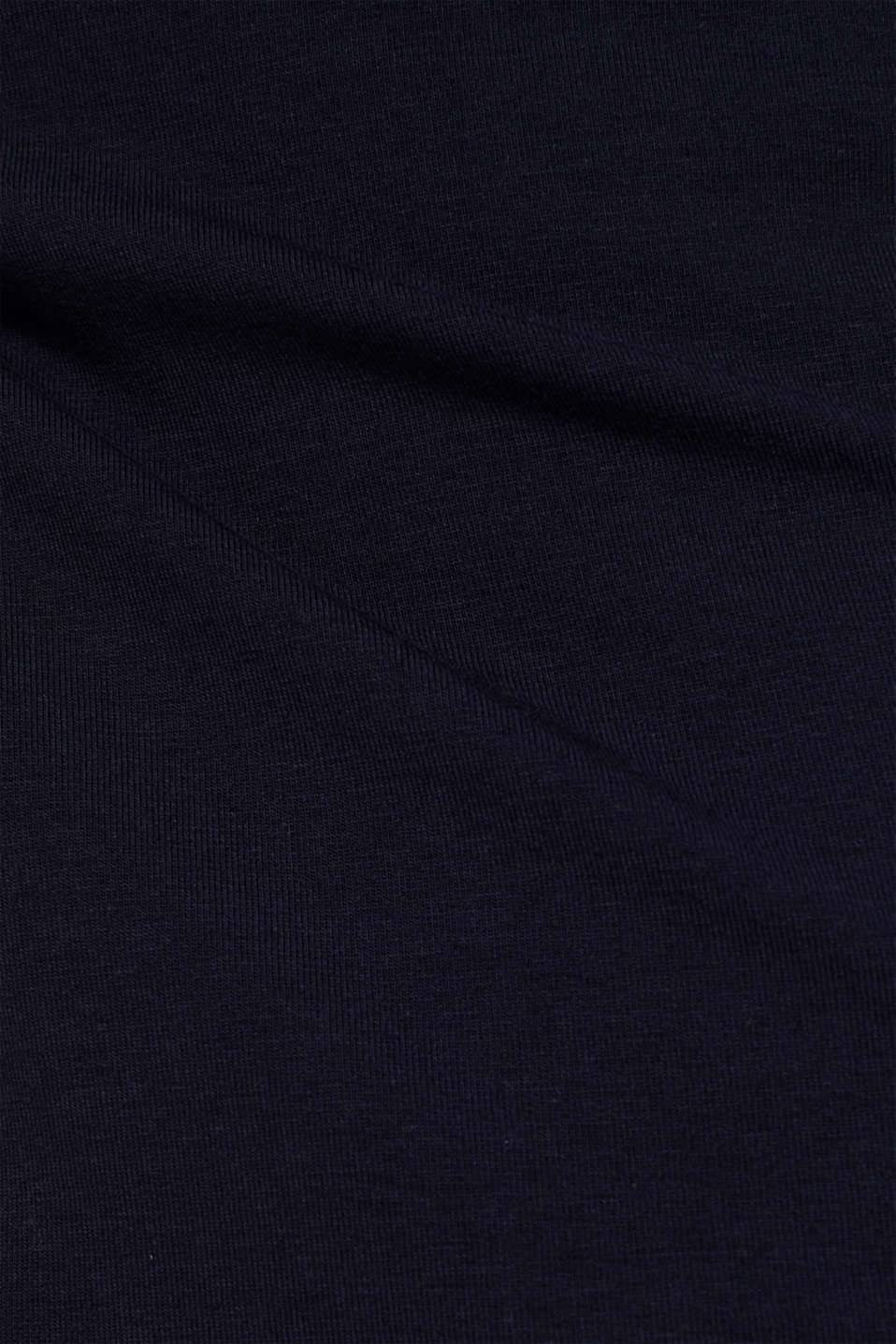 Stretch top with lace trims, NAVY, detail image number 4