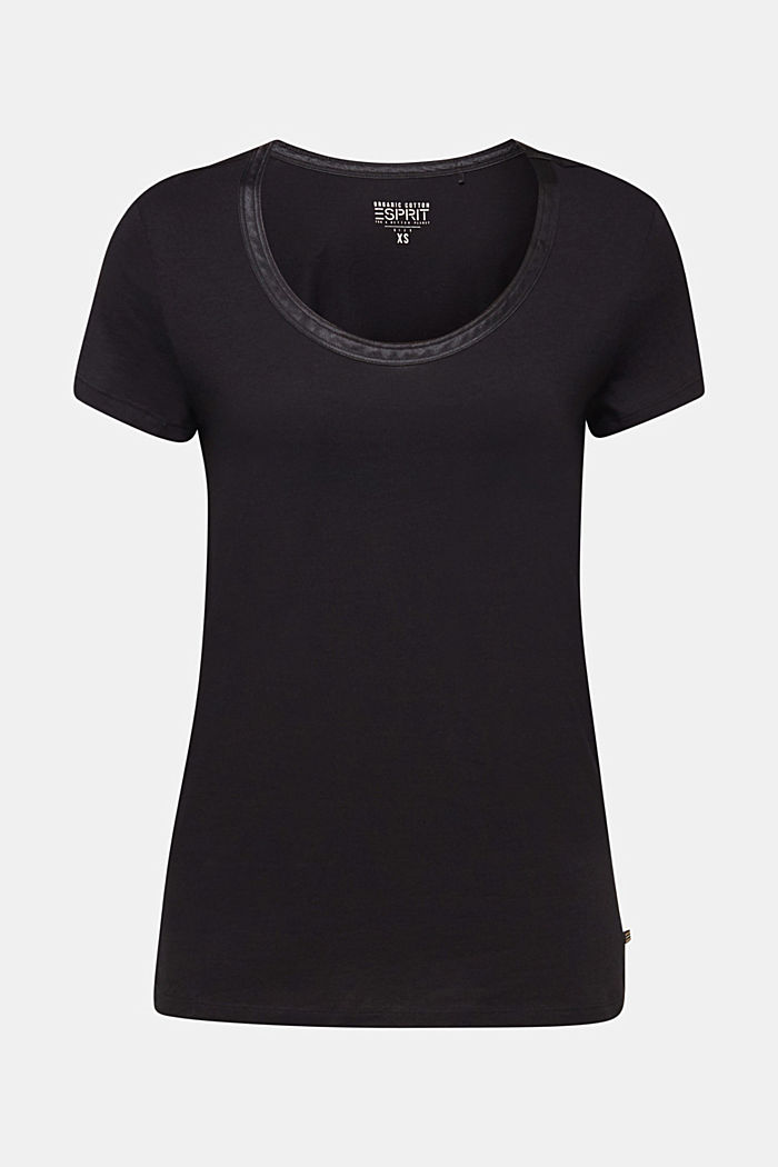 Delicate top with a satin trim, BLACK, detail image number 5