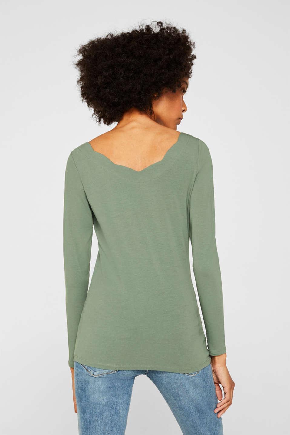 T-Shirts, KHAKI GREEN 4, detail image number 3
