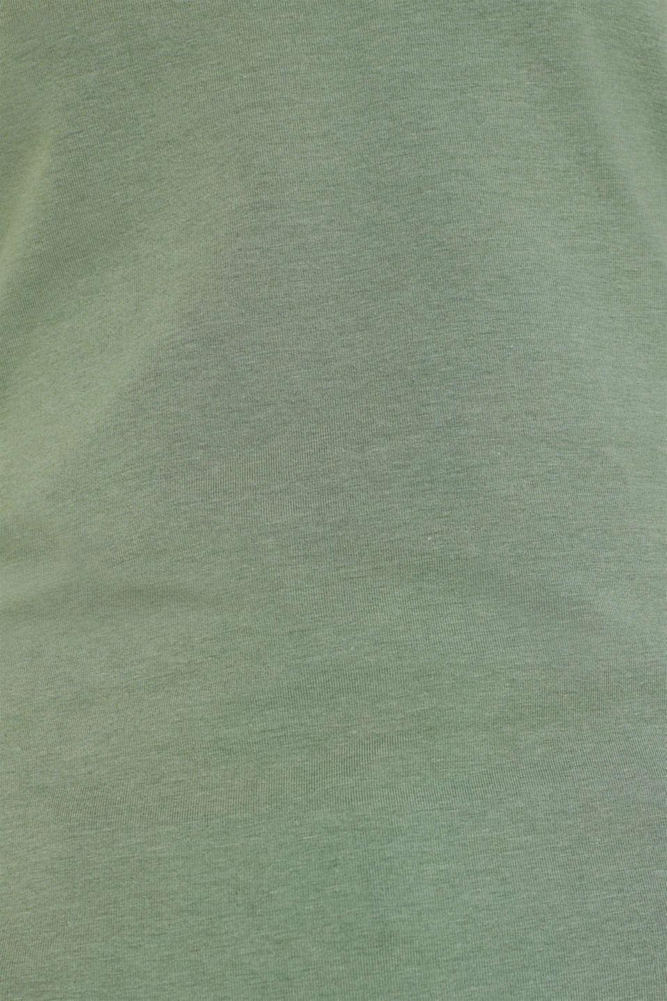 T-Shirts, KHAKI GREEN 4, detail image number 4