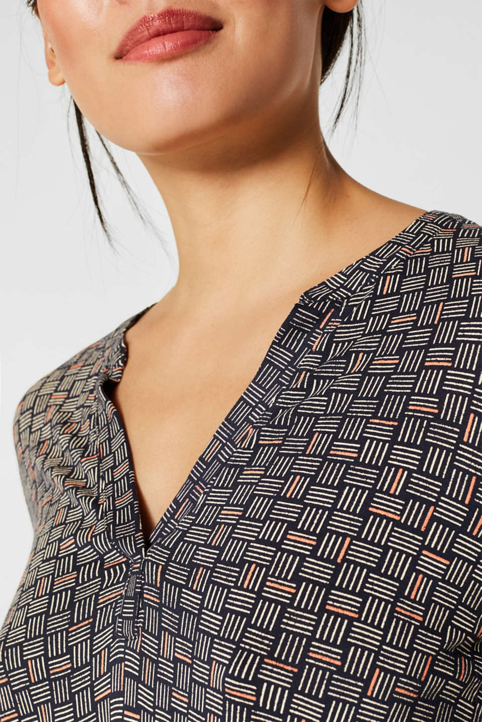 Long-sleeve top with elasticated edges, NAVY 2, detail image number 2