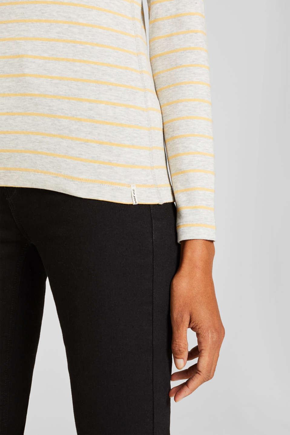 Henley-style long sleeve top, BEIGE 5, detail image number 2