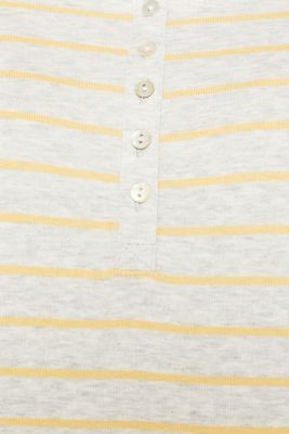 Henley-style long sleeve top
