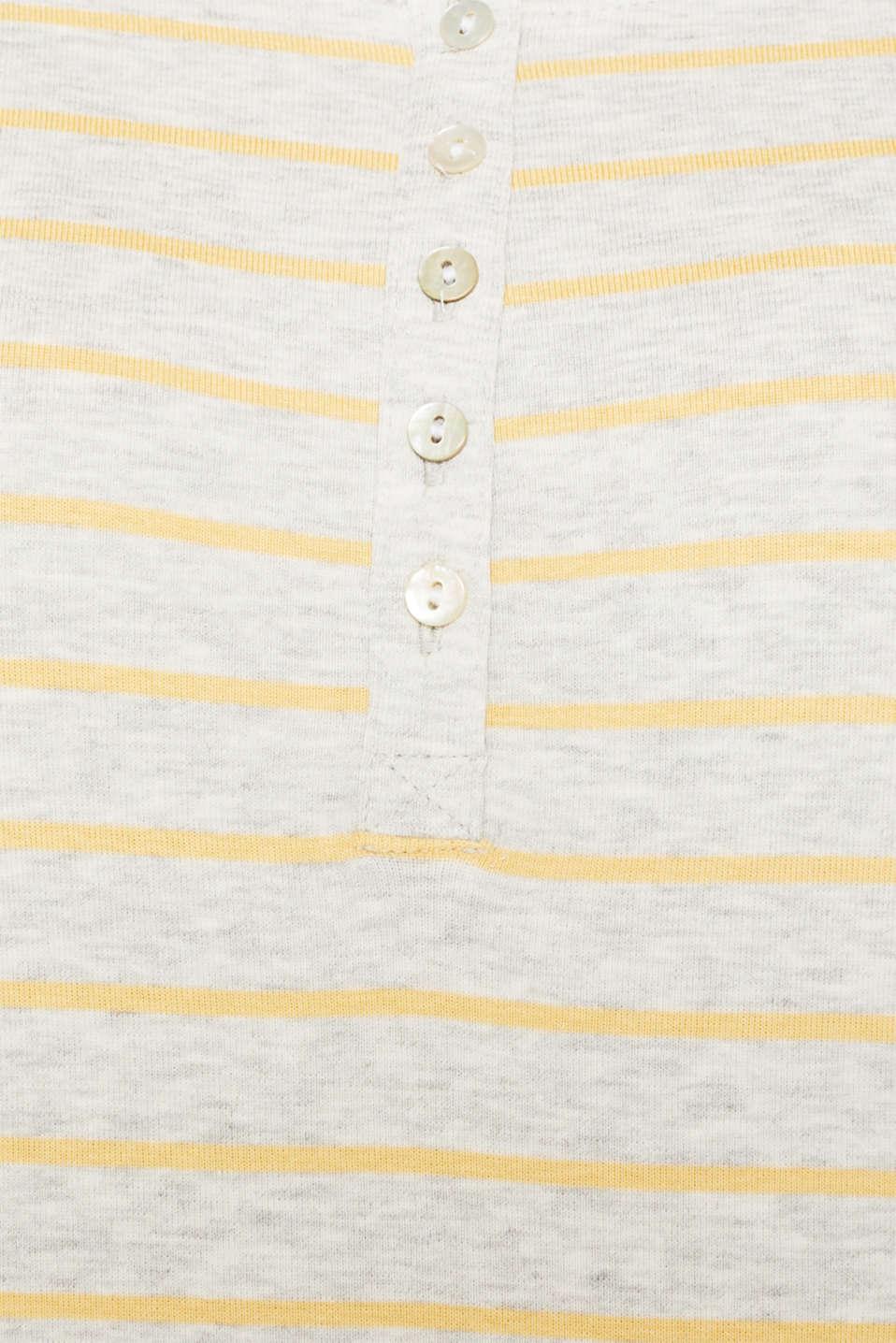 Henley-style long sleeve top, BEIGE 5, detail image number 4