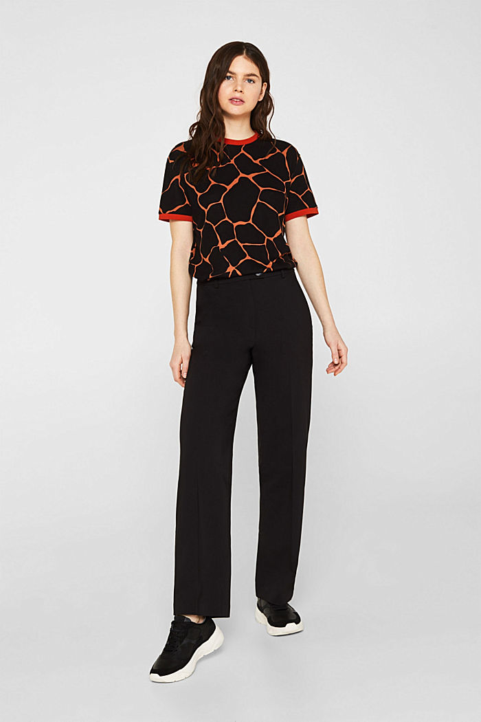 Stretch top with contrasting trims, CAMEL, detail image number 1